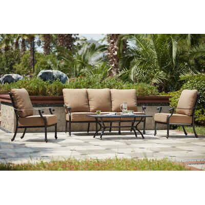 Madison 4 Piece Deep Seating Group with Cushions