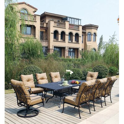 Santa Anita 9 Piece Dining Set with Cushions