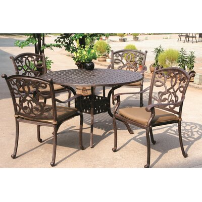Santa Monica 5 Piece Dining Set with Cushions