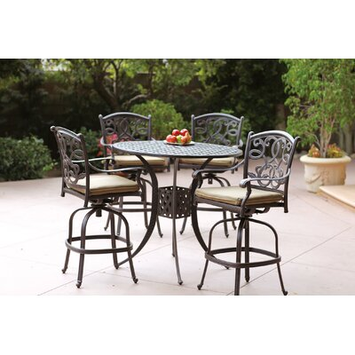 Santa Monica 5 Piece Bar Set with Cushions