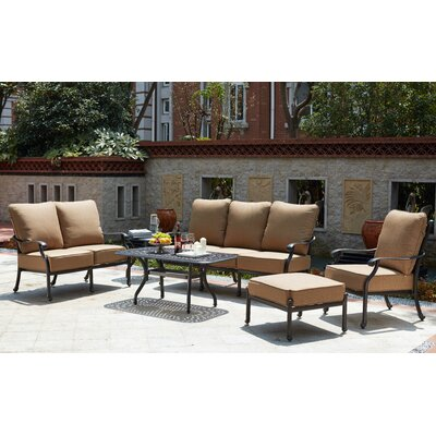 Madison 6 Piece Deep Seating Group with Cushions