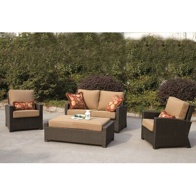 Vienna 4 Piece Deep Seating Group with Cushions