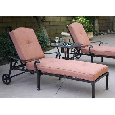 Charleston 3 Piece Chaise Lounge Set with Cushions
