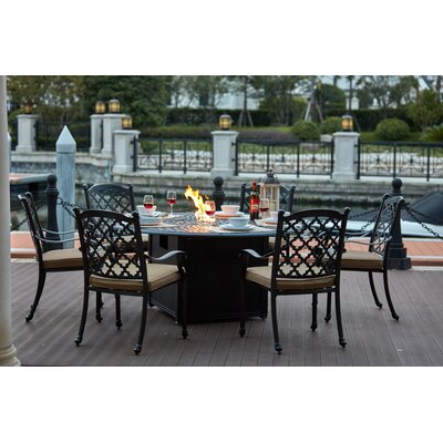 Madison 7 Piece Dining Set with Cushions