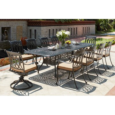 Capri 11 Piece Dining Set with Cushions