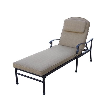 Florence 3 Piece Chaise Lounge Set with Cushions Finish: Antique Bronze