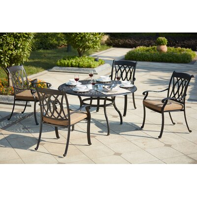 Capri 5 Piece Dining Set with Cushions