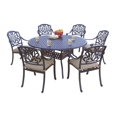 Sicilia 7 Piece Dining Set with Cushions