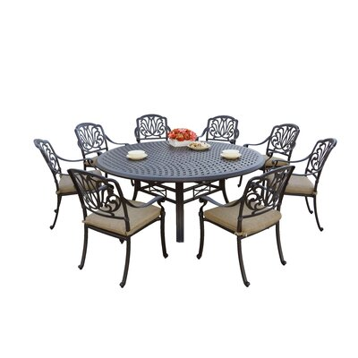 Sicilia 9 Piece Dining Set with Cushions