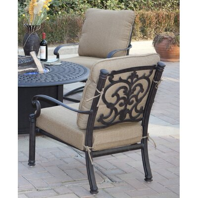 Santa Barbara 5 Piece Deep Seating Group with Cushions Frame Finish: Antique Bronze