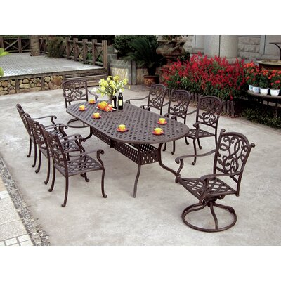 Santa Monica 9 Piece Dining Set with Cushions