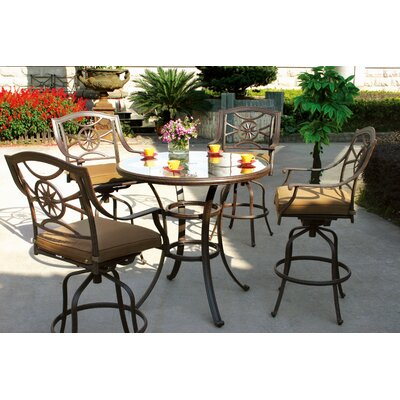 Ten Star 5 Piece Bar Dining Set with Cushions