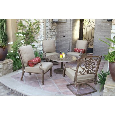 Santa Barbara 5 Piece Deep Seating Group with Cushions Frame Finish: Mocha