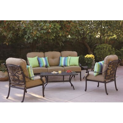 Santa Monica 5 Piece Deep Seating Group with Cushions