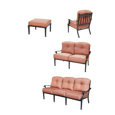 Charleston 4 Piece Deep Seating Group with Cushions