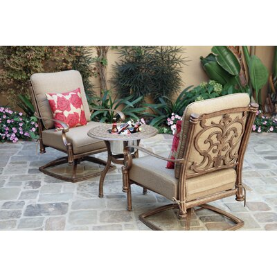 Santa Barbara 3-Piece Rocker Seating Group with Cushions Frame Finish: Mocha