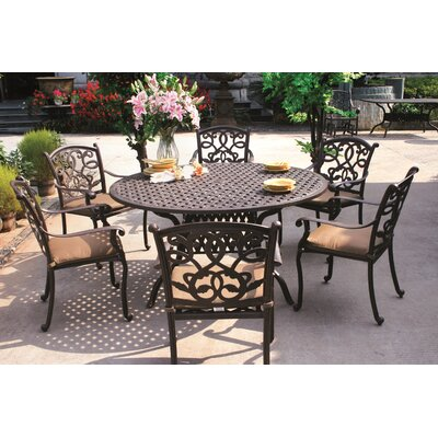 Santa Monica 7 Piece Dining Set with Cushions