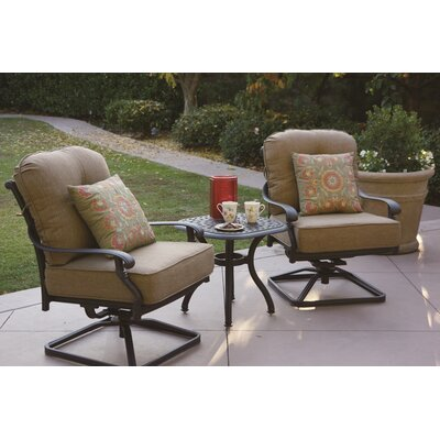 Santa Monica 3 Piece Rocker Seating Group with Cushions