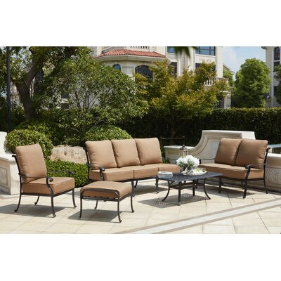 Capri 6 Piece Deep Seating Group with Cushions