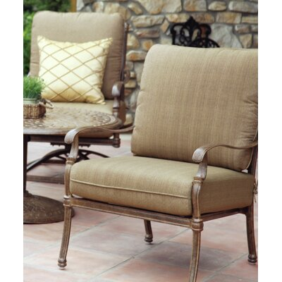 Florence 4 Piece Deep Seating Group with Cushions Frame Finish: Mocha