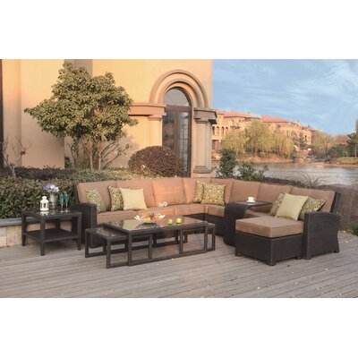 Vienna 11 Piece Sectional Seating Group with Cushions