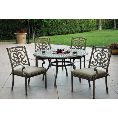 Santa Barbara 5 Piece Dining Set with Cushions Finish: Mocha