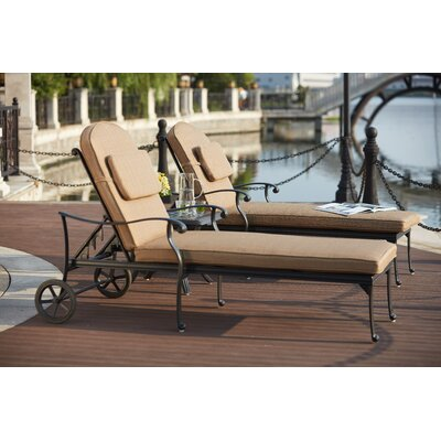Capri 3 Piece Chaise Lounge Set with Cushions