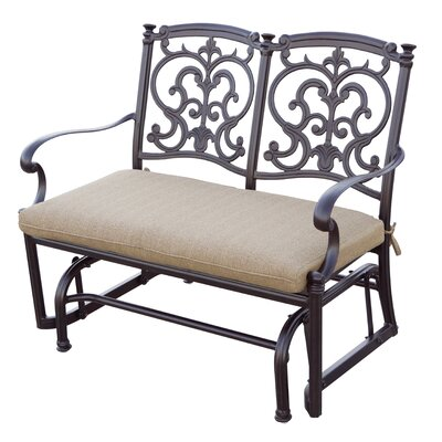 Santa Barbara 2 Piece Glider Seating Group with Cushions Frame Finish: Antique Bronze