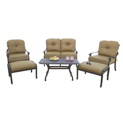 Santa Monica 6 Piece Deep Seating Group with Cushions