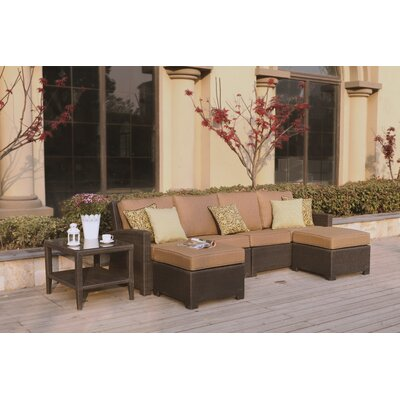 Vienna 5 Piece Sectional Seating Group wth Cushions