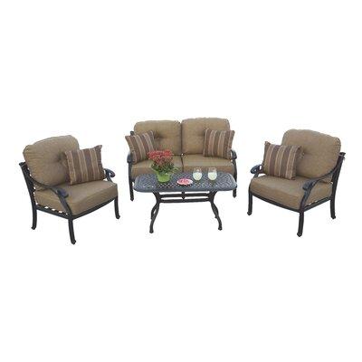 Nassau 4 Piece Deep Seating Group with Cushions