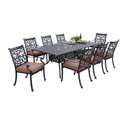 St Cruz 9 Piece Dining Set with Cushions