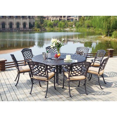 Sedona 10 Piece Dining Set with Cushions