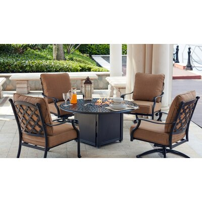 Madison 5 Piece Rocker Seating Group with Cushions