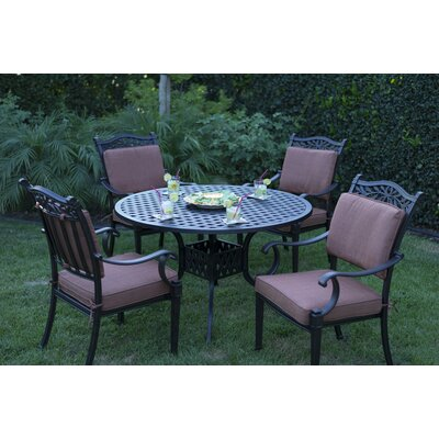 Charleston 5 Piece Dining Set with Cushions