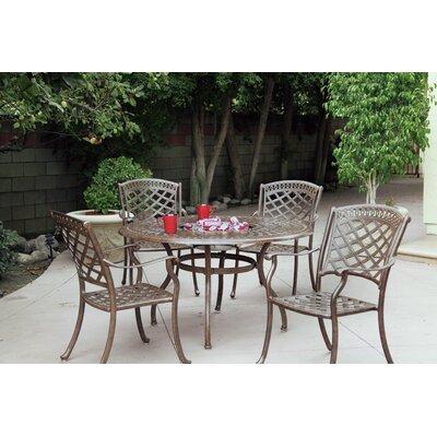 Sedona 5 Piece Dining Set with Cushions Finish: Mocha