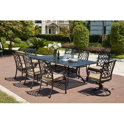 Madison 9 Piece Dining Set with Cushions