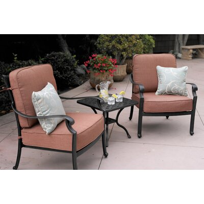 St Cruz 3 Piece Deep Seating Group with Cushions