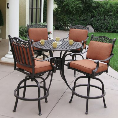 Charleston 5 Piece Bar Set with Cushions