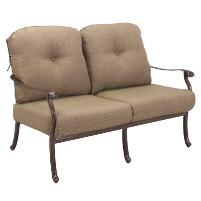 Sedona 4 Piece Deep Seating Group with Cushions Frame Finish: Mocha