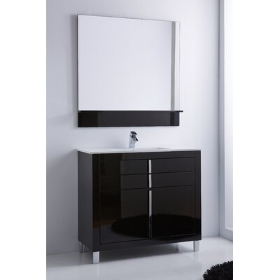 Raley 40 Single Bathroom Vanity Set Base Finish: Black