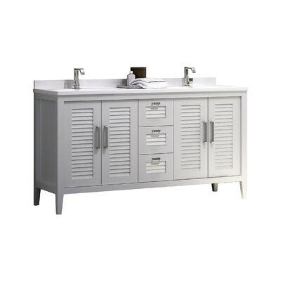 Madrid 60 Double Sink Master Bathroom Vanity Set Base Finish: White