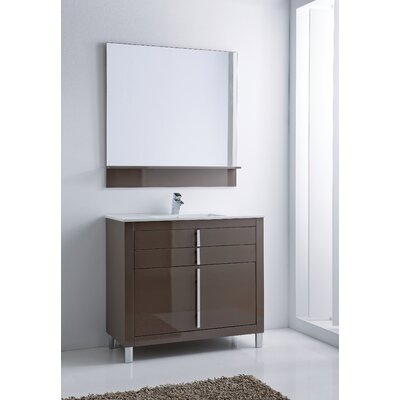 Raley 40 Single Sink Bathroom Vanity Set Base Finish: Taupe