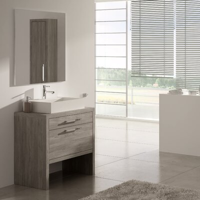 Amato 24 Single Solid Surface Sink Bathroom Vanity Set