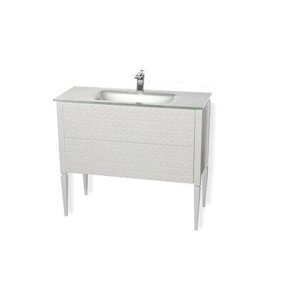 Largo 32 Single Bathroom Vanity Set Sink Finish: Silver, Base Finish: White