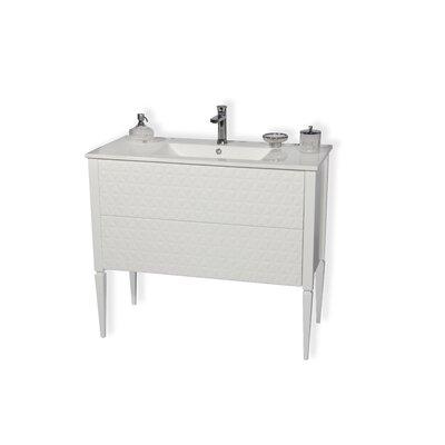 Largo 32 Single Bathroom Vanity Set Sink Finish: White, Base Finish: White