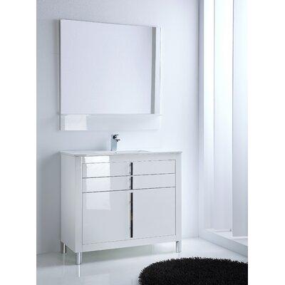 Raley 40 Single Bathroom Vanity Set Base Finish: White