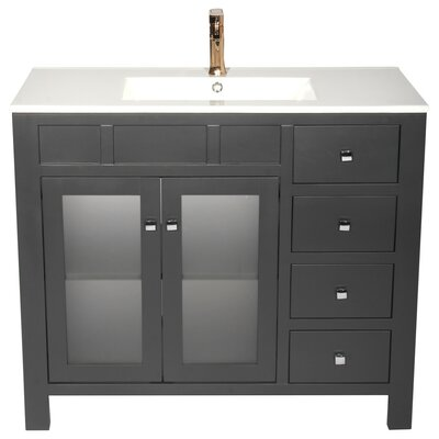 Raymundo 40 Single Bathroom Vanity Set Base Finish: Gray