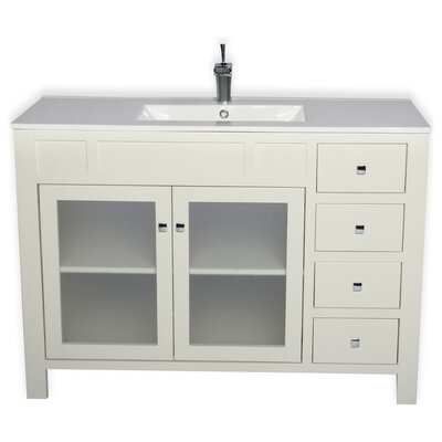Raymundo 47 Single Bathroom Vanity Set Base Finish: White