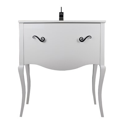 Botsford 32 Single Bathroom Vanity Set Base Finish: White